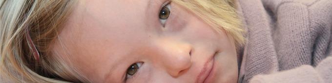 Petite fille porteuse de trisomie 21