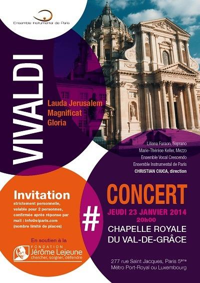 Invitation Concert Vivaldi sitze