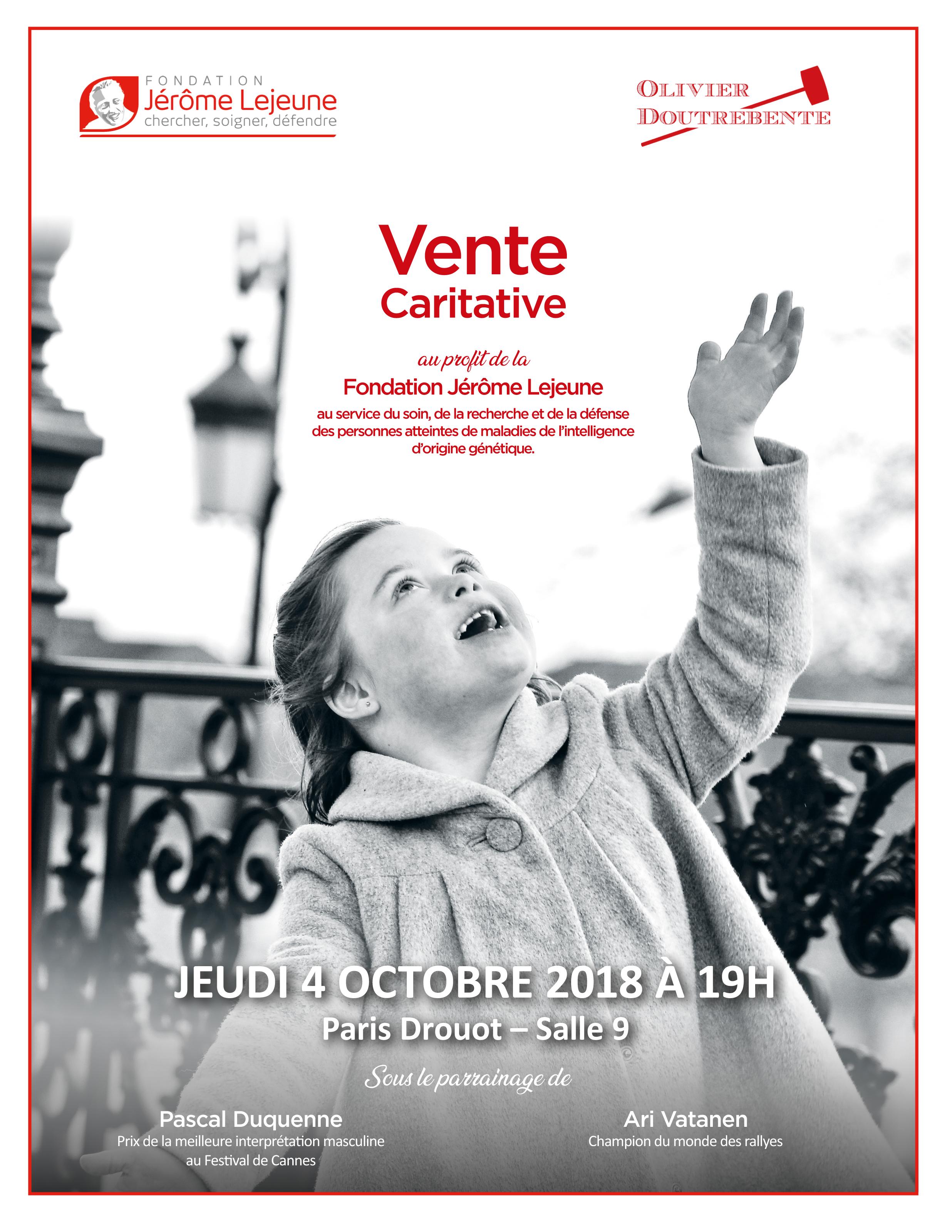 Vente Caritative Fondation Jerome Lejeune